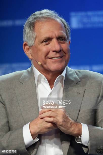 Chairman and CEO Leslie Moonves speaks during the Milken Institute Global Conference 2017 at The Beverly Hilton Hotel on May 3 2017 in Beverly Hills...