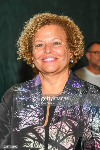 Chairman and CEO of BET Debra Lee attends the Calvin Klein Collection outside arrivals during New York Fashion Week on September 11 2018 in New York...
