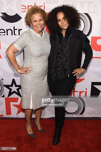 Chairman and CEO of BET Networks Debra L. Lee and singer Alicia Keys attends BET Networks 2016 Upfront at Rose Hall at Jazz at Lincoln Center on...