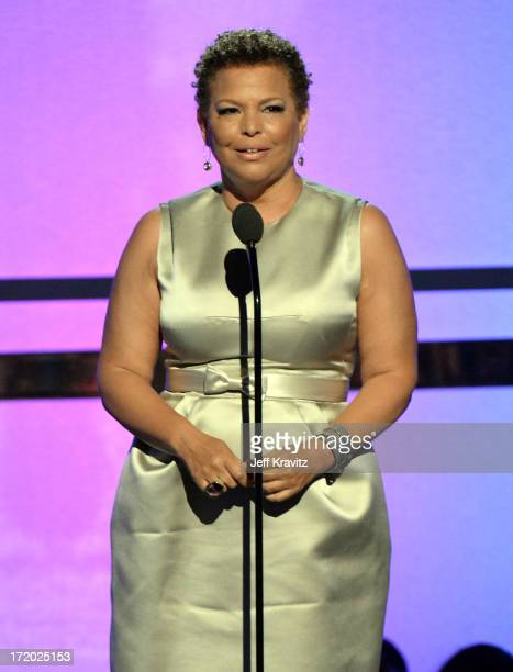 Chairman and CEO of BET Networks Debra Lee speaks onstage during the 2013 BET Awards at Nokia Theatre LA Live on June 30 2013 in Los Angeles...