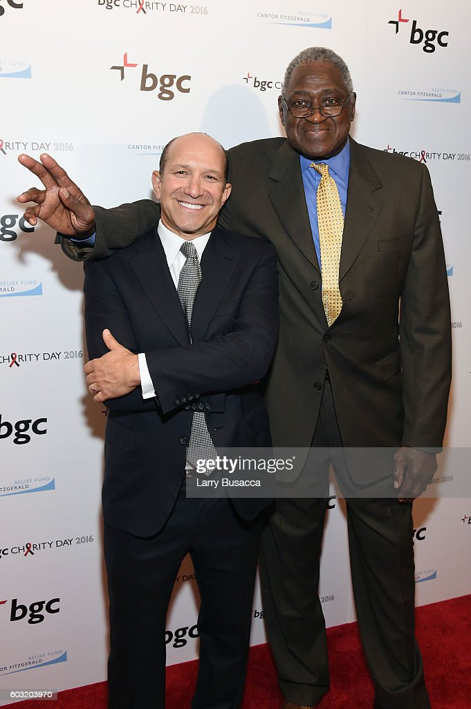 Annual Charity Day Hosted By Cantor Fitzgerald, BGC and GFI - BGC Office - Arrivals : News Photo
