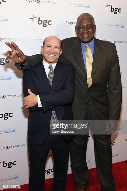 Chairman and CEO of Cantor Fitzgerald Howard Lutnick and Former NBA player Willis Reed attend Annual Charity Day hosted by Cantor Fitzgerald BGC and...