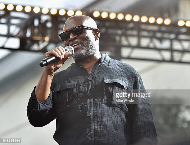 Chairman and CEO of Epic Records LA Reid speaks onstage at EpicFest 2016 hosted by LA Reid and Epic Records at Sony Studios on June 25 2016 in Los...