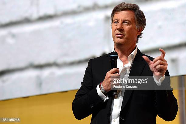 Chairman and CEO of French hotel operator AccorHotels Sebastien Bazin addresses France's Public Investment Bank event Bpifrance Inno Generation BIG...