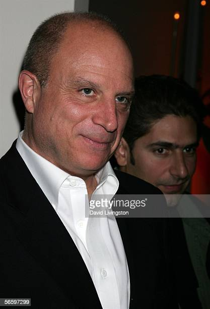 Chairman and CEO of HBO Chris Albrecht and actor Michael Imperioli attend HBO's Annual PreGolden Globe Reception at Chateau Marmont on January 14...