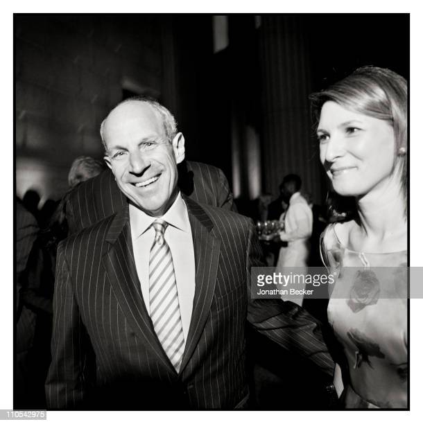 Chairman and CEO of Loews Hotel Jonathan Tisch and wife Lizzie Tisch are photographed at the Tribeca Film Festival for Vanity Fair Magazine on April...