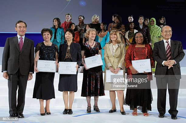 Chairman and CEO of L�OREAL Lindsay OwenJones Professor Eugenia Kumacheva from North America Professor Akiko Kobayashi from Asia professor Athene...