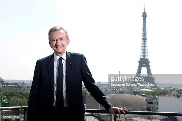 Chairman and CEO of LVMH Bernard Arnault is photographed for Le Figaro on July 8 2013 in Paris France CREDIT MUST READ Sebastien...