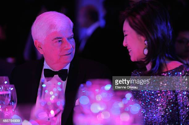 Chairman and CEO of MPA Chris Dodd and TV anchor Olivia Xu attend the For the Love of Cinema event hosted by IWC Schaffhausen in the role as a...