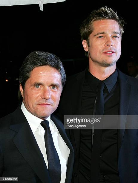 Chairman and CEO of Paramount Pictures Brad Grey and actor Brad Pitt arrive at the Toronto International Film Festival gala presenation of the film...