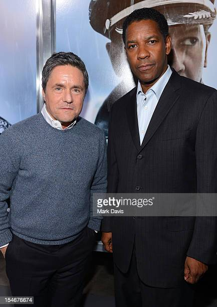 Chairman and CEO of Paramount Pictures Brad Grey and actor Denzel Washington arrive to the Premiere of Paramount Pictures' 'Flight' at ArcLight...