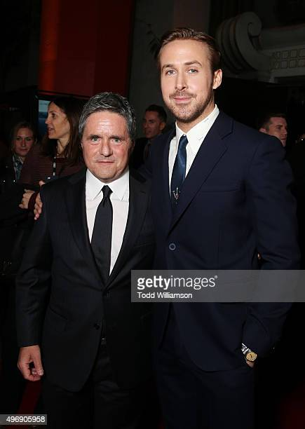 """Chairman and CEO of Paramount Pictures Brad Grey and actor Ryan Gosling attend the closing night gala premiere of Paramount Pictures' """"The Big Short""""..."""