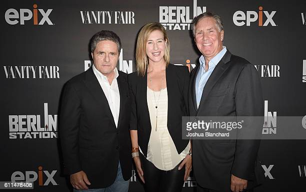 Chairman and CEO of Paramount Pictures Brad Grey President of Paramount Television Amy Powell and President/CEO of EPIX Mark Greenberg attend EPIX...