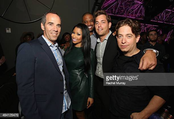 Chairman and CEO of Republic Records Monte Lipman rapper Nicki Minaj manager Gee Roberson Senior Vice President of Promotion and Operations at...