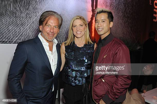 Chairman and CEO of Restoration Hardware Gary Friedman stylist Petra Flannery and blogger Jared Eng attend the unveiling of the RH Modern Gallery in...