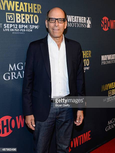 Chairman and CEO of Showtime Networks Inc Matthew C Blank arrives at the VIP PreFight Party for 'High Stakes Mayweather v Berto' presented by...