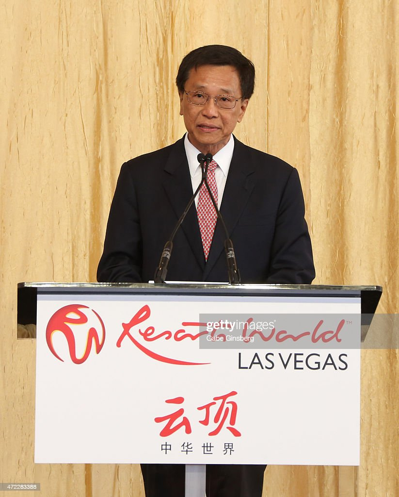 Chairman and CEO of the Genting Group K.T. Lim speaks during the Genting Group's ceremonial groundbreaking for Resorts World Las Vegas on May 5, 2015 in Las Vegas, Nevada. The USD 4 billion property on the Las Vegas Strip is expected to open in 2018 on the site of the former Stardust Resort & Casino.