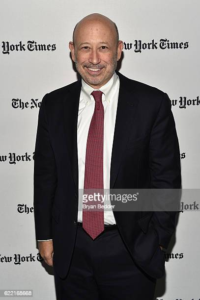 Chairman and CEO of The Goldman Sachs Group Inc Lloyd C Blankfein poses backstage at The New York Times DealBook Conference at Jazz at Lincoln Center...