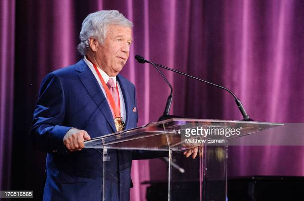 Chairman and CEO of the Kraft Group Robert Kraft attends the 2013 Carnegie Hall Medal of Excellence Gala at the Waldorf Astoria on June 13 2013 in...