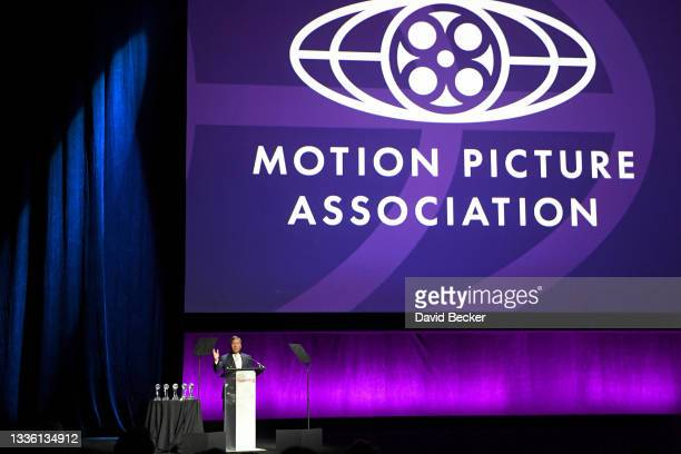 Chairman and CEO of the Motion Picture Association Charles H. Rivkin speaks onstage during CinemaCon 2021 The State of the Industry and MGM/UAR...