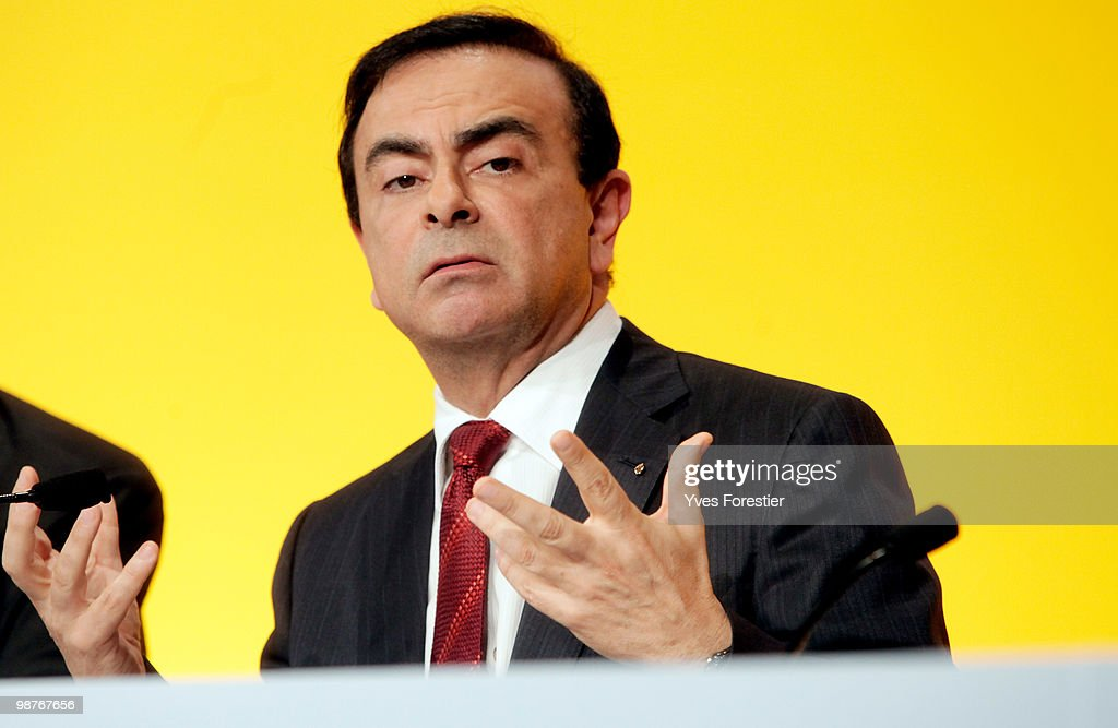 Renault General Assembly with President Carlos Ghosn : News Photo