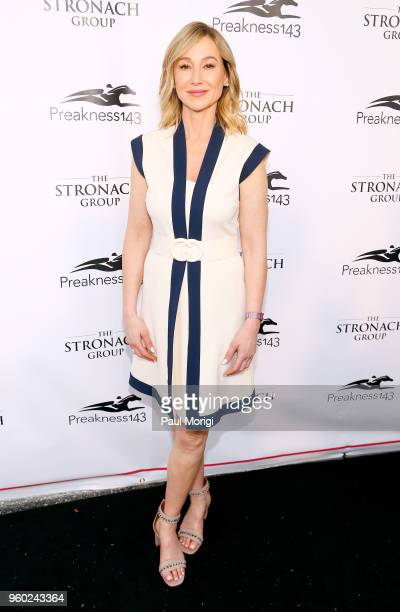 Chairman and CEO of The Stronach Group Belinda Stronach attends The Stronach Group Chalet at 143rd Preakness Stakes on May 19 2018 in Baltimore...