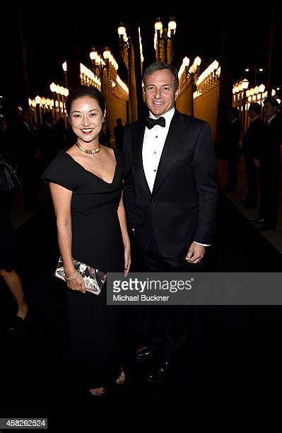 Chairman and CEO of The Walt Disney Company Bob Iger and Christine Y Kim attend the 2014 LACMA Art Film Gala honoring Barbara Kruger and Quentin...