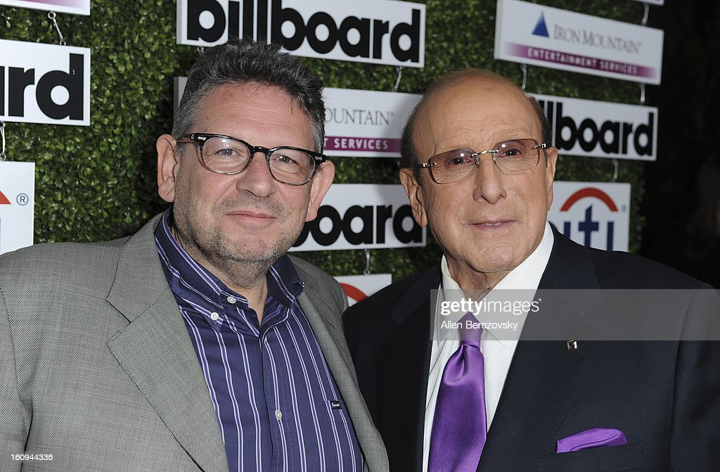 Chairman and CEO of Universal Music Group Lucian Grainge and music industry executive Clive Davis attend the 1st Annual Billboard Power 100 Event honoring Clive Davis at The Redbury Hotel on February 7, 2013 in Hollywood, California.