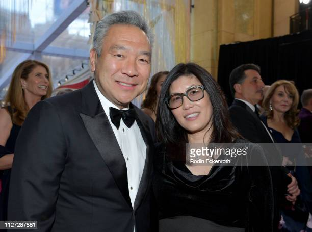 Chairman and CEO of Warner Bros Entertainment Kevin Tsujihara and Sandy Tsujihara attend the 91st Annual Academy Awards at Hollywood and Highland on...