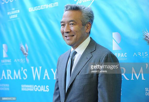 Chairman and CEO of Warner Bros Entertainment Kevin Tsujihara attends a special event for UN SecretaryGeneral Ban Kimoon on August 10 2016 in Los...
