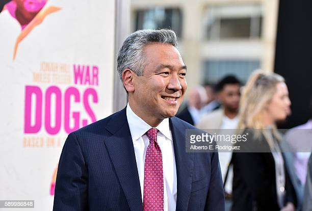 Chairman and CEO of Warner Bros Entertainment Kevin Tsujihara attends the premiere of Warner Bros Pictures' War Dogs at TCL Chinese Theatre on August...