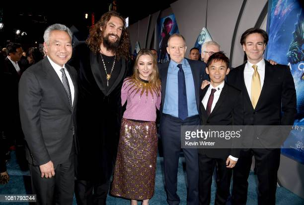 Chairman and CEO of Warner Bros Entertainment Kevin Tsujihara Jason Momoa President Worldwide Marketing Warner Bros Pictures Group and Warner Bros...
