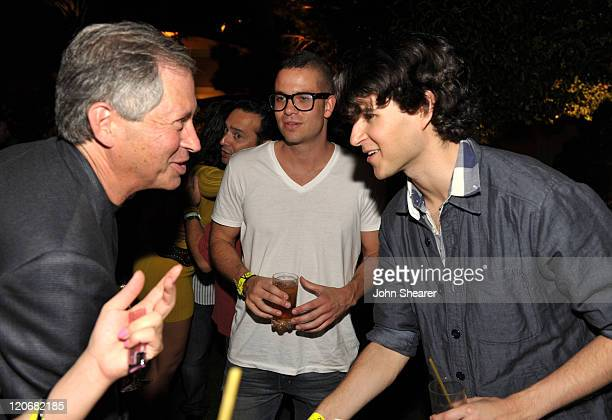Chairman and CEO of ZeniMax Media Robert Altman actor Mark Salling and musician Ezra Koenig of Vampire Weekend attend the after party for the Fallout...