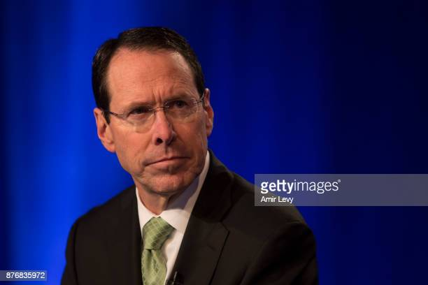 Chairman and CEO Randall Stephenson provides an overview of developments in the ATT and Time Warner merger on November 20 2017 in New York City The...