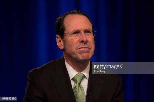 Chairman and CEO Randall Stephenson speaks at a news conference in Time Warner headquarters addressing the latest developments in the ATT and Time...