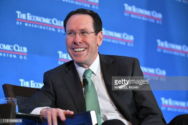 DC: AT&T CEO Randall Stephenson Speaks At The Economic Club Of Washington DC