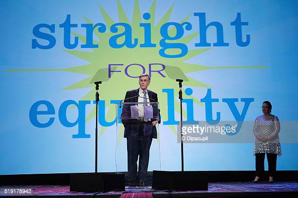 Chairman and CEO Richard Ketchum speaks onstage at PFLAG National's eighth annual Straight for Equality awards gala at Marriot Marquis on April 4...
