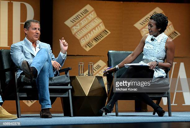 Chairman and CEO Richard Plepler and DreamWorks Animation Chairman Ariel Investments and Moderator Mellody Hobson speak onstage during Who Owns Your...