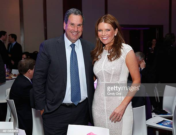 Chairman and CEO Saks Inc Stephen I Sadove and Television Host of Street Smart Bloomberg Trish Regan attend the NRF Foundation Gala on January 11...