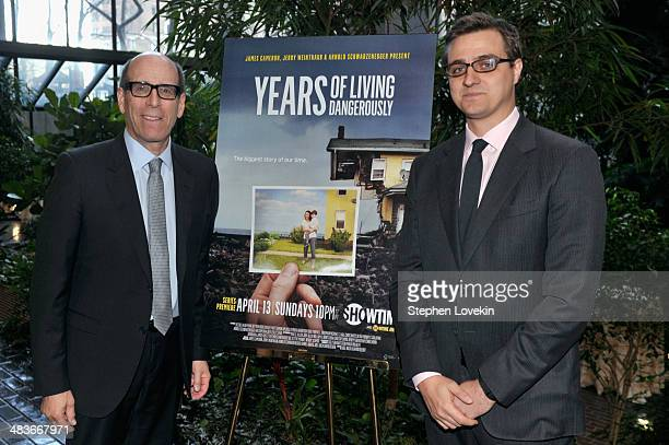 Chairman and CEO Showtime Networks Inc Matthew C Blank and Years of Living Dangerously correspondent Chris Hayes attend the Showtime screening of...