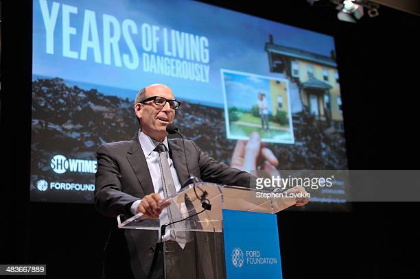 Chairman and CEO Showtime Networks Inc Matthew C Blank speaks onstage at the Showtime screening of Years Of Living Dangerously at Ford Foundation's...