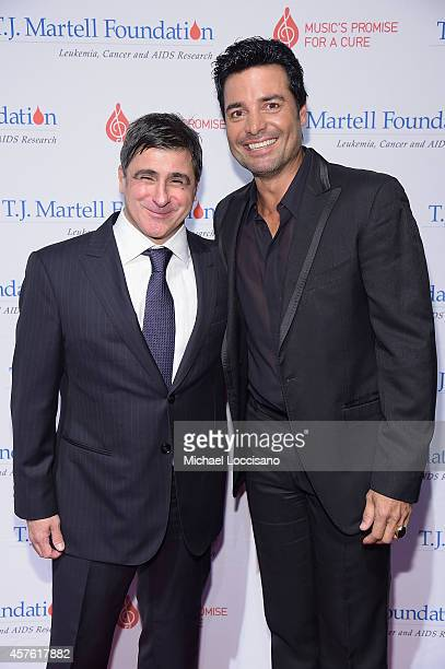 Chairman and CEO Sony Music Entertainment Latin Iberia Afo Verde and singer Chayanne attend the TJ Martell Foundation's 39th Annual New York Honors...