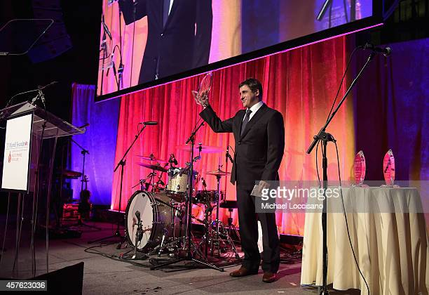Chairman and CEO Sony Music Entertainment Latin Iberia Afo Verde speaks onstage at the TJ Martell Foundation's 39th Annual New York Honors Gala at...