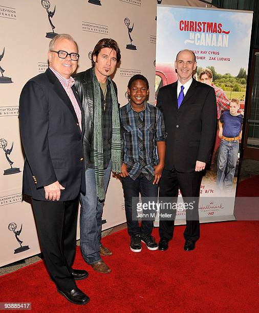 Chairman and CEO The Academy of Television Arts Sciences John Shaffner singer/actor Billy Ray Cyrus actor Jaishon Fisher and President CEO Hallmark...
