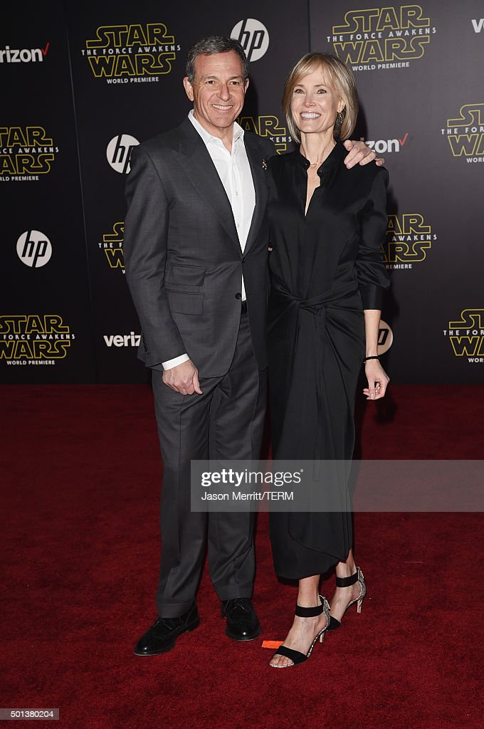 Chairman and CEO, The Walt Disney Company Bob Iger and Willow Bay attend Premiere of Walt Disney Pictures and Lucasfilm's 'Star Wars: The Force Awakens' on December 14, 2015 in Hollywood, California.