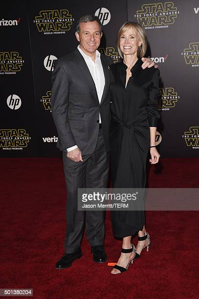 Chairman and CEO The Walt Disney Company Bob Iger and Willow Bay attend Premiere of Walt Disney Pictures and Lucasfilm's 'Star Wars The Force...
