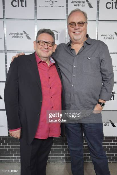 Chairman and CEO UMG Sir Lucian Grainge and Chairman and CEO UMG Nashville Mike Dungan attend Sir Lucian Grainge's 2018 Artist Showcase presented by...