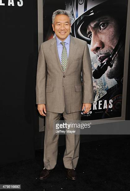 Chairman and CEO Warner Bros Kevin Tsujihara arrives at the 'San Andreas' Los Angeles Premiere at TCL Chinese Theatre IMAX on May 26 2015 in...