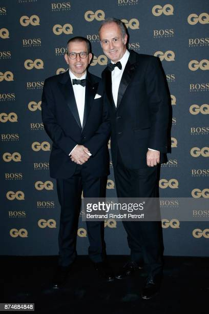 Chairman and Chief Executive of Conde Nast International Jonathan Newhouse and CEO of Conde Nast France Xavier Romatet attend the GQ Men of the Year...