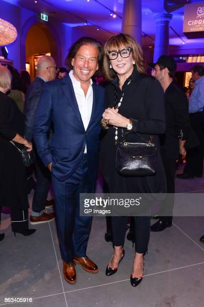 Chairman and Chief Executive Officer Gary Friedman and Mila Mulroney attend the opening celebration of RH Restoration Hardware The Unveiling Of RH...